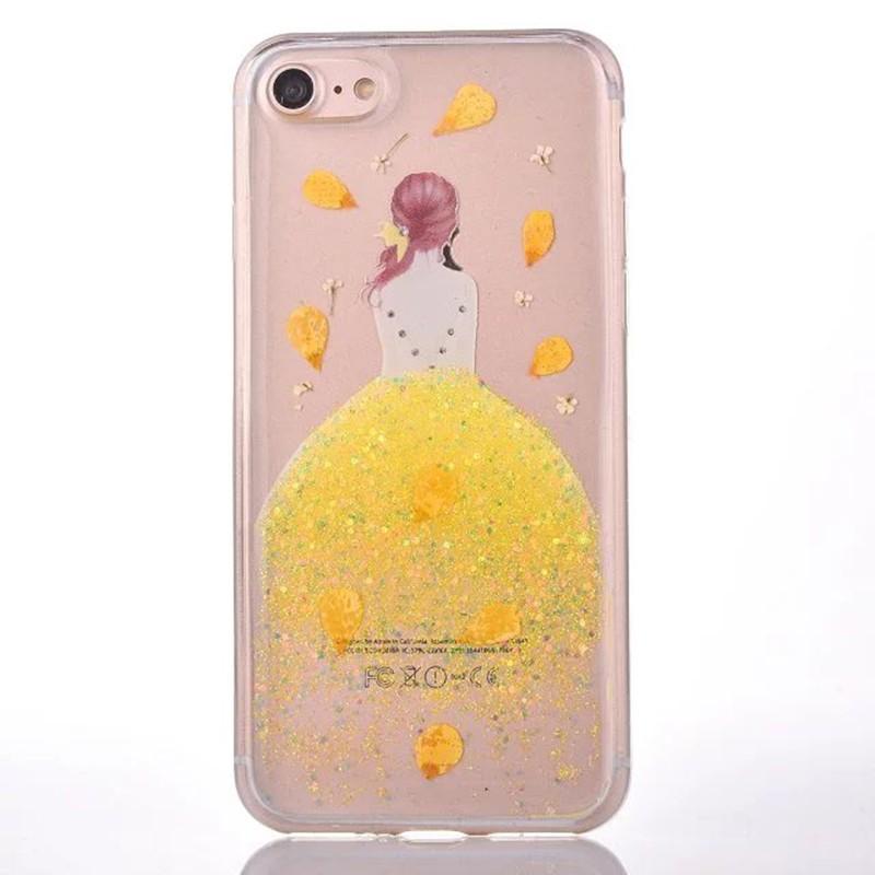 HTB1T 6xOVXXXXX1apXXq6xXFXXXG - Soft TPU Glitter Princess Dress Girl Petal Patterned Back Cover Cell Phone Case for iPhone 7 PTC 185