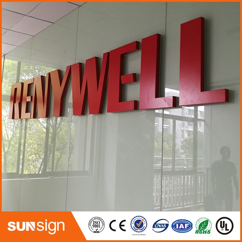 3d Letters Led Light ,Custom Metal Acrylic Letters Outdoor Signs