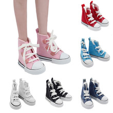 цена на New Style 60cm Doll Shoes 7.5cm Canvas Shoes for 1/3 1/4 BJD/SD Doll Mini Shoes for Russian DIY Handmade Doll Accessories