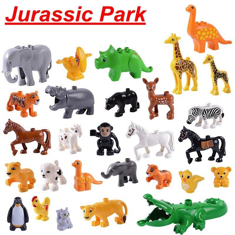 Legoing Jurassic Welten & duplo jurassic park Puppen Legoing Zahlen dinosaurier drachen Bausteine DIY Spielzeug für Kinder geschenke
