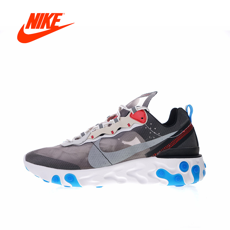 Original New Arrival Authentic Nike Upcoming React Element 87 Men's Comfortable Running Shoes Sport Outdoor Sneakers AQ1090-003