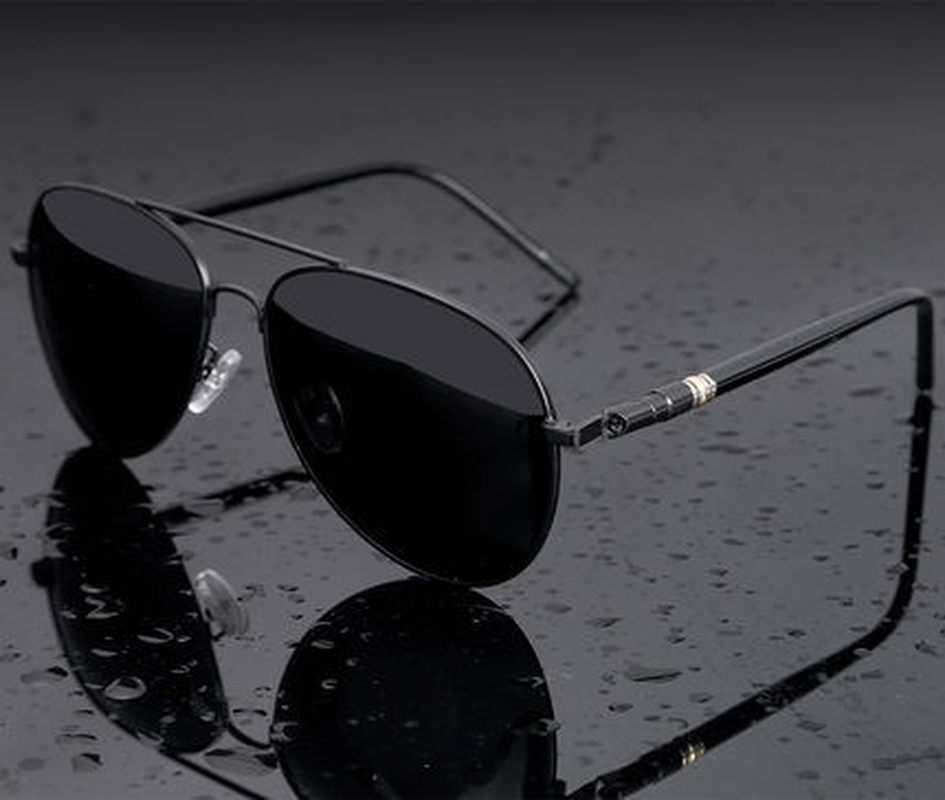 Aviation Metail Frame Quality Oversized Spring Leg Alloy Men Sunglasses Polarized Brand Design Pilot Male Sun Glasses Driving 3