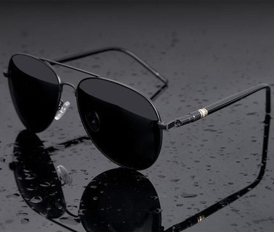 Aviation Metail Frame Quality Oversized Spring Leg Alloy Men Sunglasses Polarized Brand Design Pilot Male Sun Glasses Driving 2