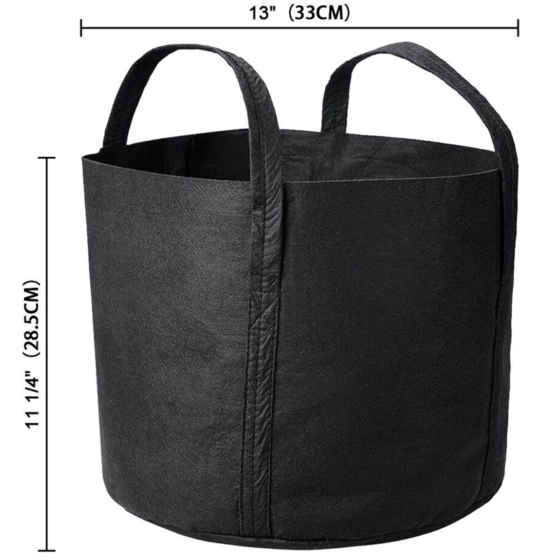 5 Packs Grow Bag Fabric Basin Root Bag And Handle Planting Container 7 Gallon Planting Bay Tree Planting Bag Gallon Bag Non Wo in Grow Bags from Home Garden