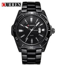 Curren оригинальные часы мужские кварцевые свободного покроя часы мужчины люксовый бренд черный точная дата стали мужчин спорта наручные часы Relogio Masculino