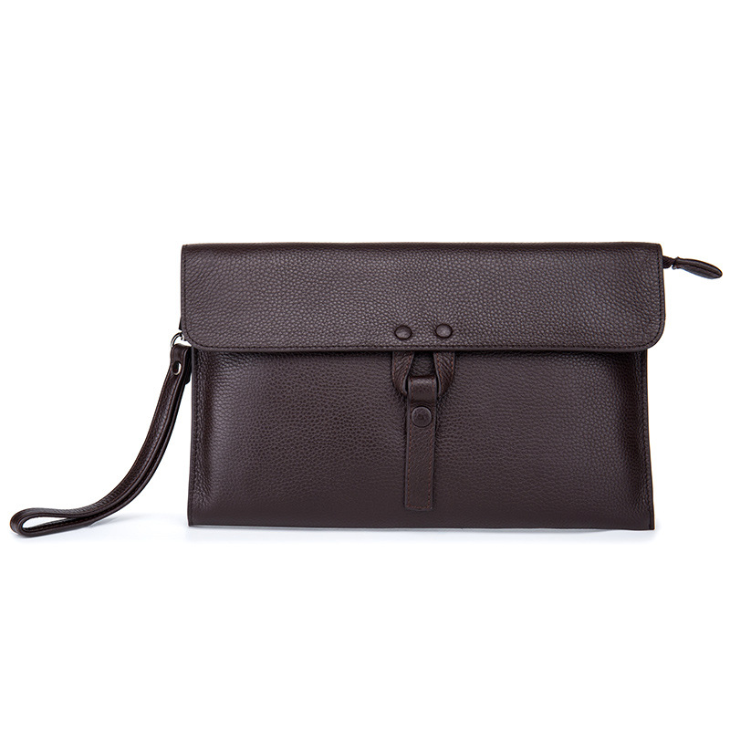 New Fashion Desieners Men Day Clutches Bags Genuine Cowhide Leather Men's Handbags Business Large Capacity Clutch Bags Coffee women s genuine leather day clutches 2016 new china designers women s cowhide embossing one shoulder bags fashion day clutches