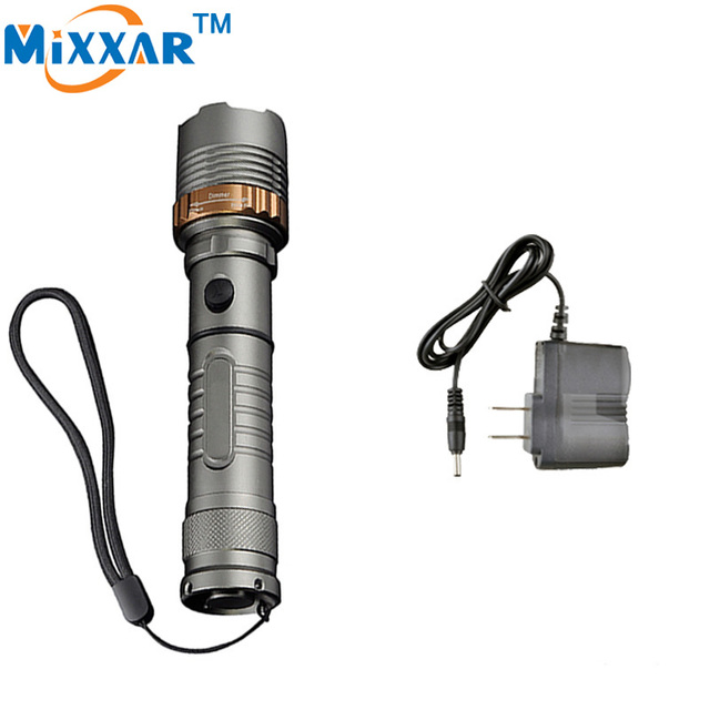 ZK10 Self Defense LED flashlights Cree XM-L T6 Rechargeable Torch 4000LM Lamps powerful Lantern Tactical Outdoor Torch light