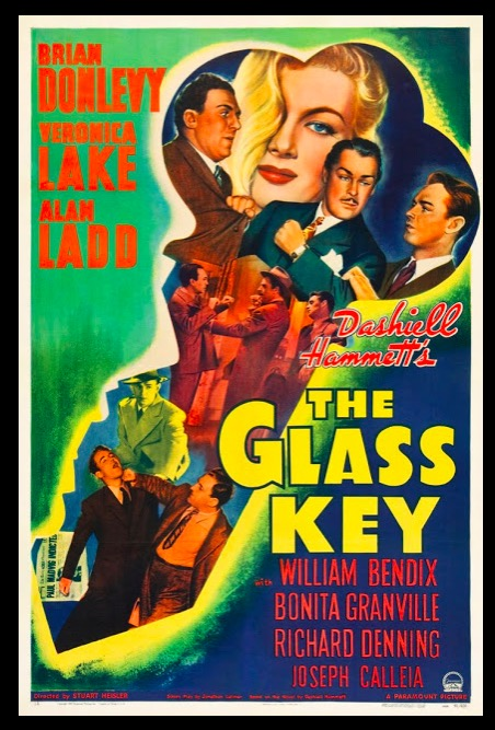 The Glass Key Beauty Classic Movie Film Noir Retro Vintage Poster Canvas Painting DIY Wall Paper Home Decor Gift image