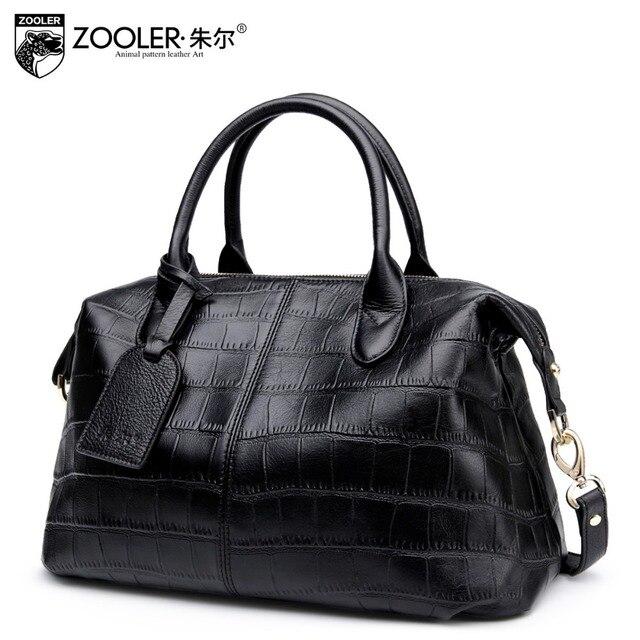 ZOOLER 2017 Autumn Genuine leather bag woman leather handbags Vintage luxury large capacity level up bag bolsa feminina#YL-3606