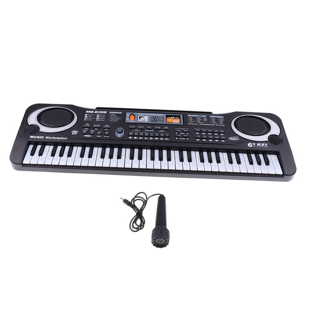 61 clés électrique orgue clavier Piano Mini Microphone jouet ensemble enfants jouet Musical jouer activité
