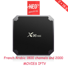Android tv box x96Mini 2+16gb one year neo tv iptv subscription belgium spanish italian smart iptv stream player