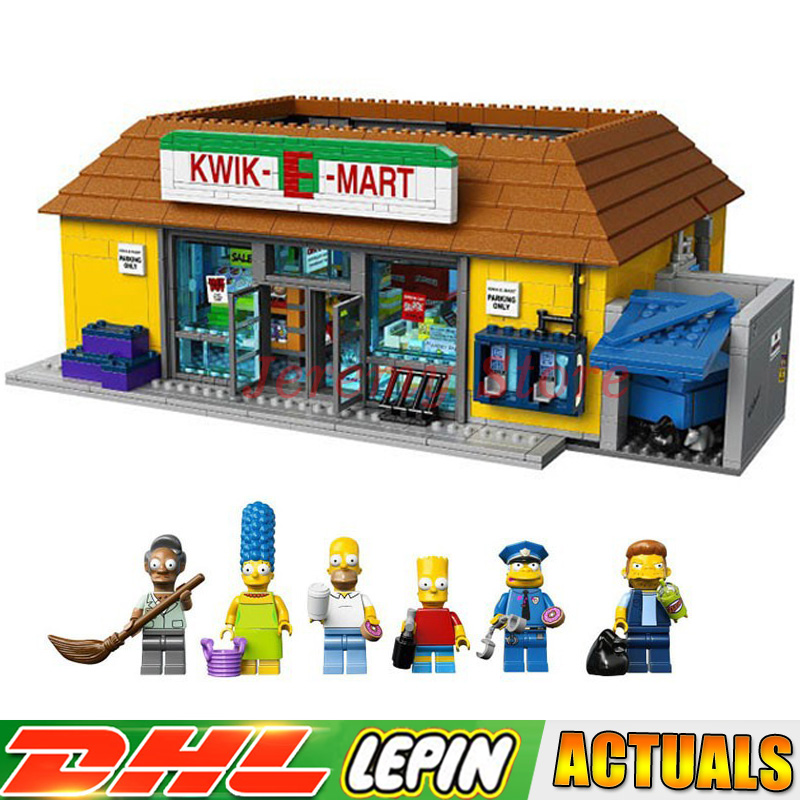 2018 DHL LP 16004 2232Pcs the Simpsons KWIK-EMART Model Building Blocks Educational Brick Toys Compatible LegoINGlys 71016