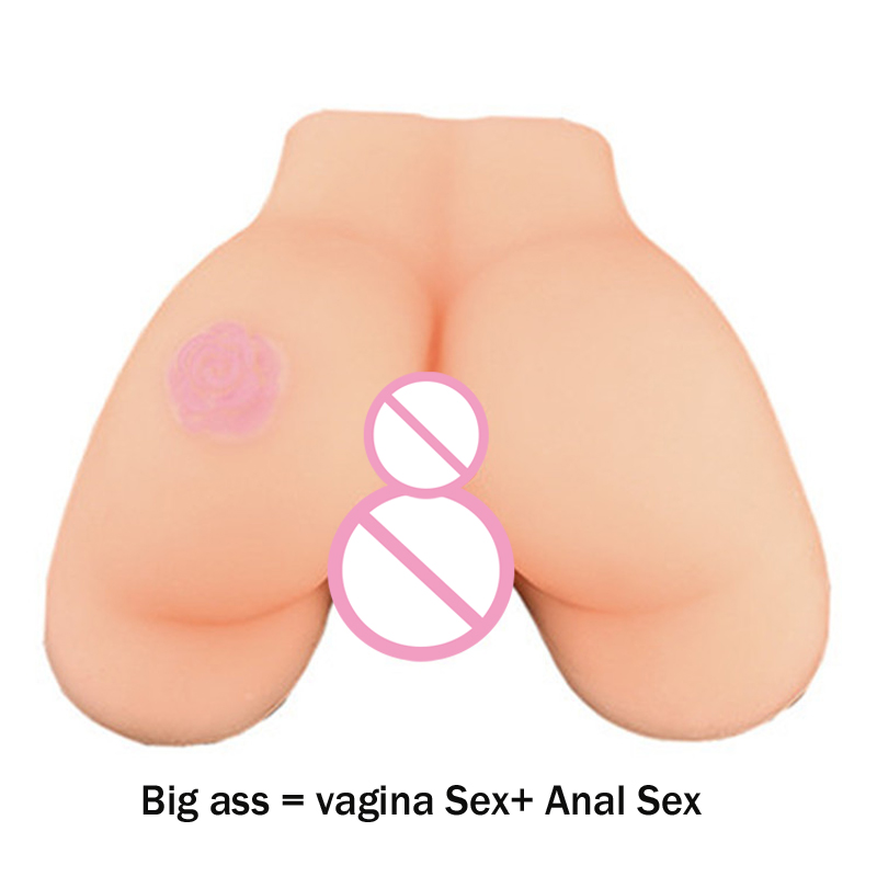 Sex Toys for Men Dual Hole Artificial Silicone Sex Doll Real Pocket Pussy Anal Sex Soft Big Ass Adult Sex Products,1:1 Real Ass real feel maiden artificial vagina skin real pocket pussy male masturbation cup sex products adult sex toys for men