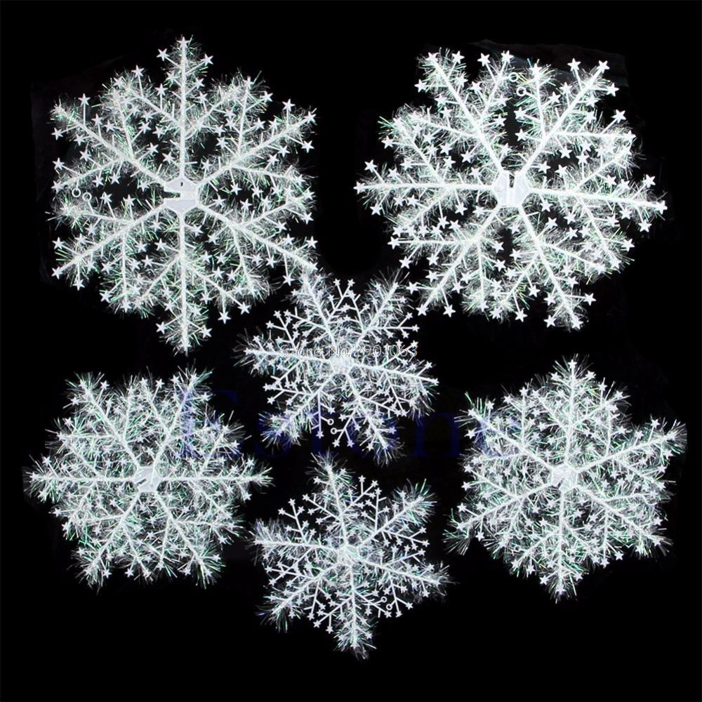 Christmas snowflake ornaments - 6pcs Classic White Snowflake Ornaments Christmas Holiday Party Home Decor New H06 China Mainland