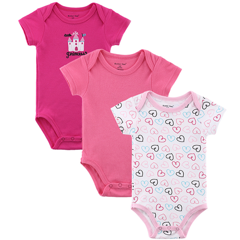 3 Pieceslot Baby Romper Girl and Boy Short Sleeve Leopard Print Summer Clothing Set for Newborn Next Jumpsuits & Rompers (6)