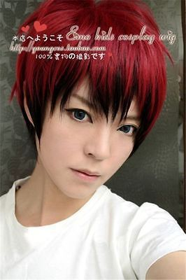 Red And Black Hair Boy : black, SHIPPING^^^^, Japanese, Men's, Black, Short, Straight, Cosplay, Anime, Wig|wigs, Men|wig, Malewigs, Styles, AliExpress