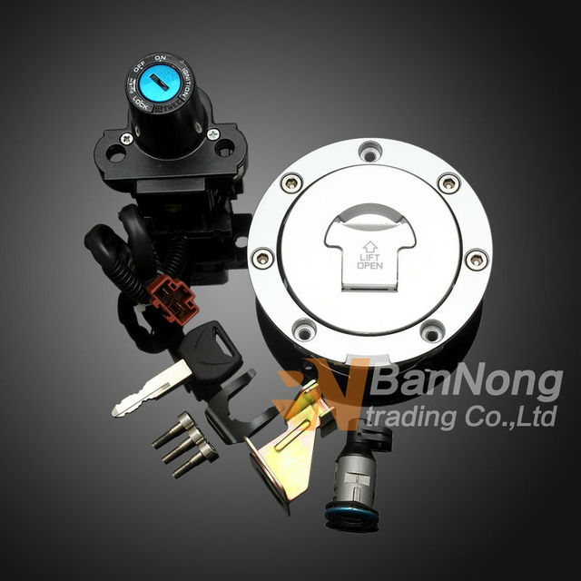 US $31 16 5% OFF|Motorcycle Ignition Switch Lock Fuel gas Tank Cap lock+key  Seat Handle Locks Include Key For HONDA CBR1000 CBR1000 04 05 06 07-in
