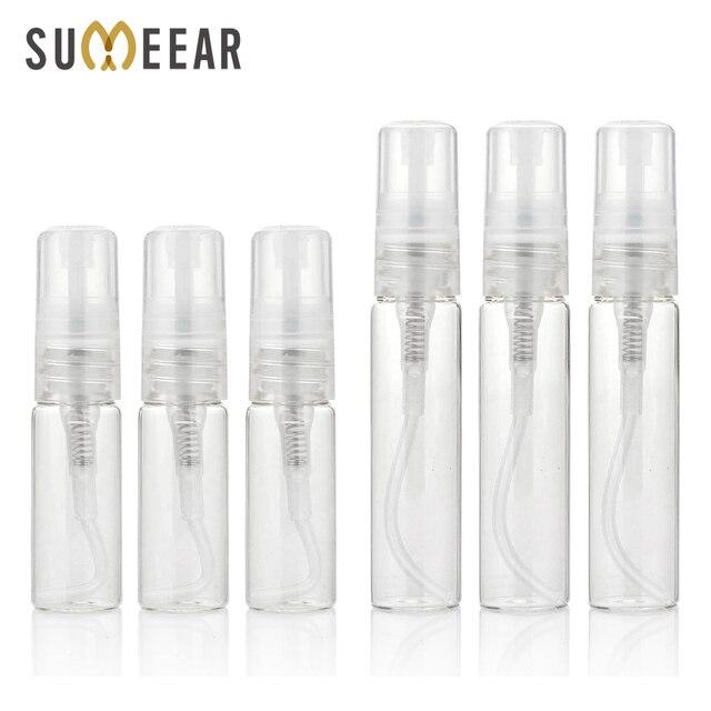 100 adet/grup 5ml 10ml seyahat sprey şişesi taşınabilir cam parfüm şişeleri Atomizer Contenitori kozmetik pompa Parfum kadın parfüm