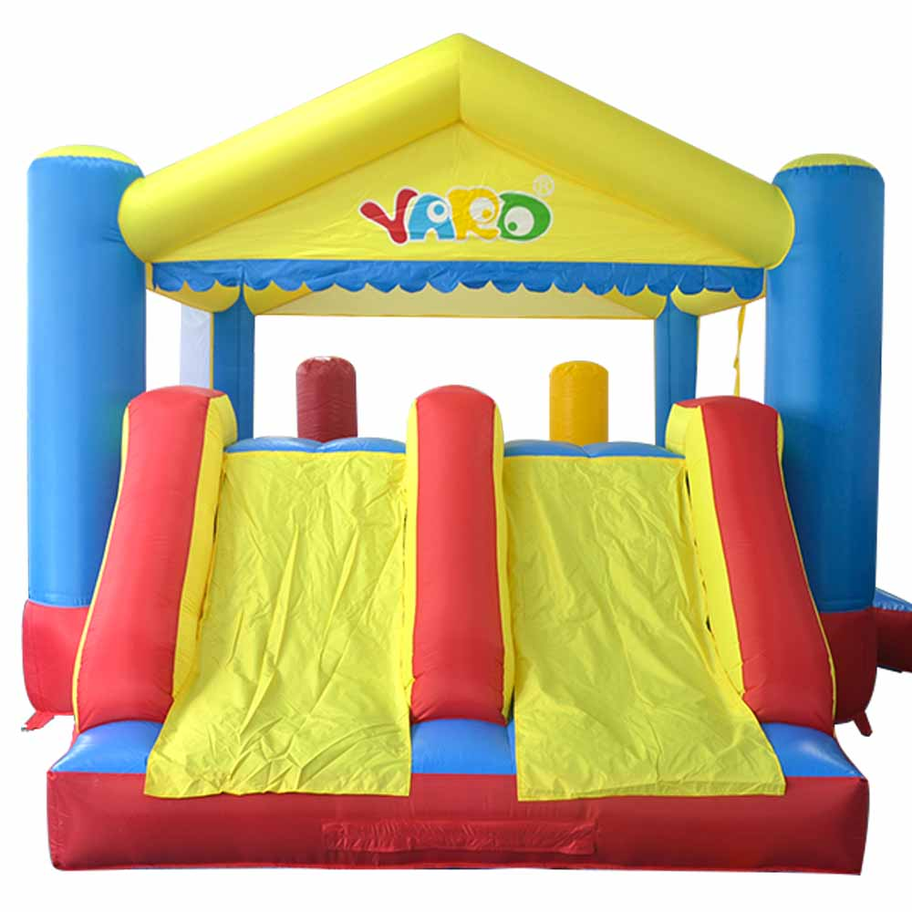 Dual Slide Inflatable Bounce House Combo Bouncer Bouncy Jumper With Obstacle Course Trampoline Kids Party Game inflatable slide with dual lanes pvc inflatable slide red giant inflatble bouncer