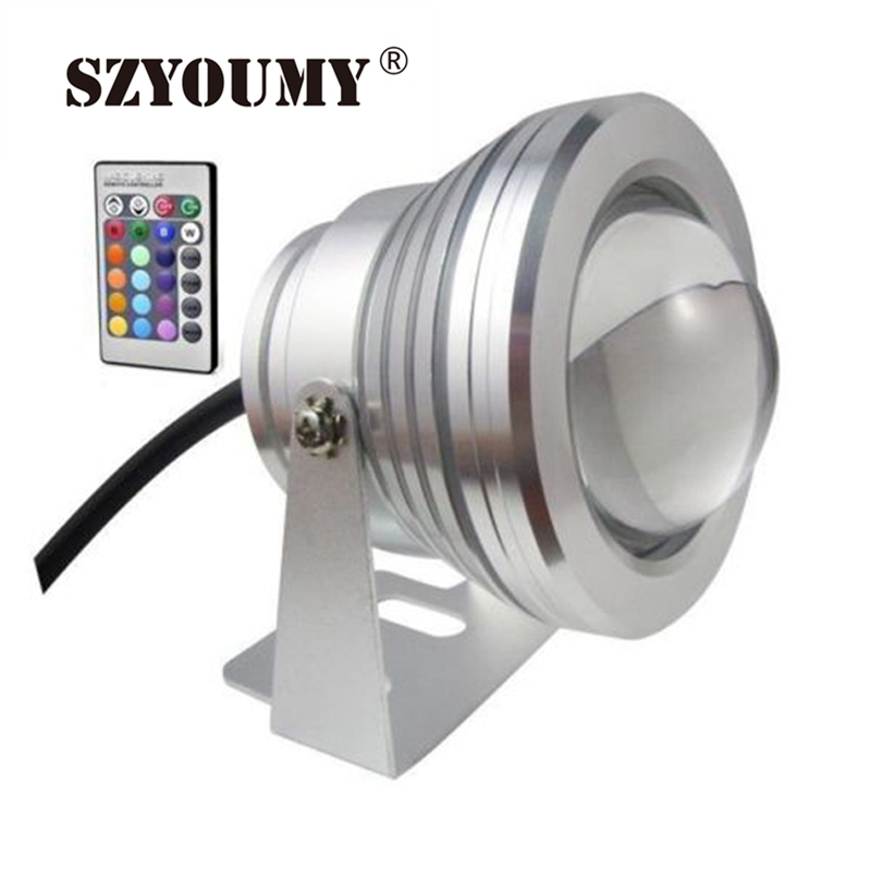Persevering Szyoumy 10w 12v Underwater Rgb Led Light 1000lm Waterproof Ip68 Fountain Pool Lamp Lights16 Colors With Controller 100% High Quality Materials Led Underwater Lights Lights & Lighting