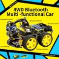 Keyestudio 4WD Bluetooth Multi-functional DIY умный автомобиль для Робот ардуино образование Программирование + Руководство пользователя + PDF (онлайн) + видео
