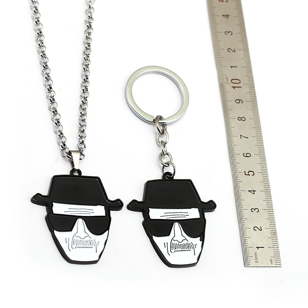 HSIC Movie Breaking Bad Keychain Heisenberg Mask Walter White Metal Pendant Skull Key chains Car Accessories Men Jewelry HC12866 image