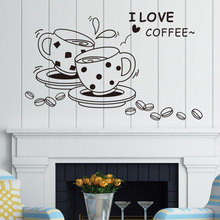 Виниловая наклейка CF27 для ресторана, кофейни, кухни, ресторана, украшение для дома, наклейки на стену, можно настраивать лозунги