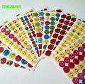 HAPPYXUAN 5 Packs(50 sheets) Cute Mini Smile face Paper School Rewards Stickers for Teachers Star Kindergarten Student Kids
