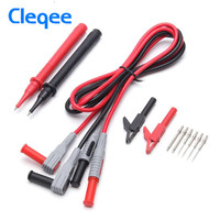Cleqee P1300B 12 In 1 Super Multifunction Changeable Needle Probe Replaceable Clamp Multi Meter Test Lead