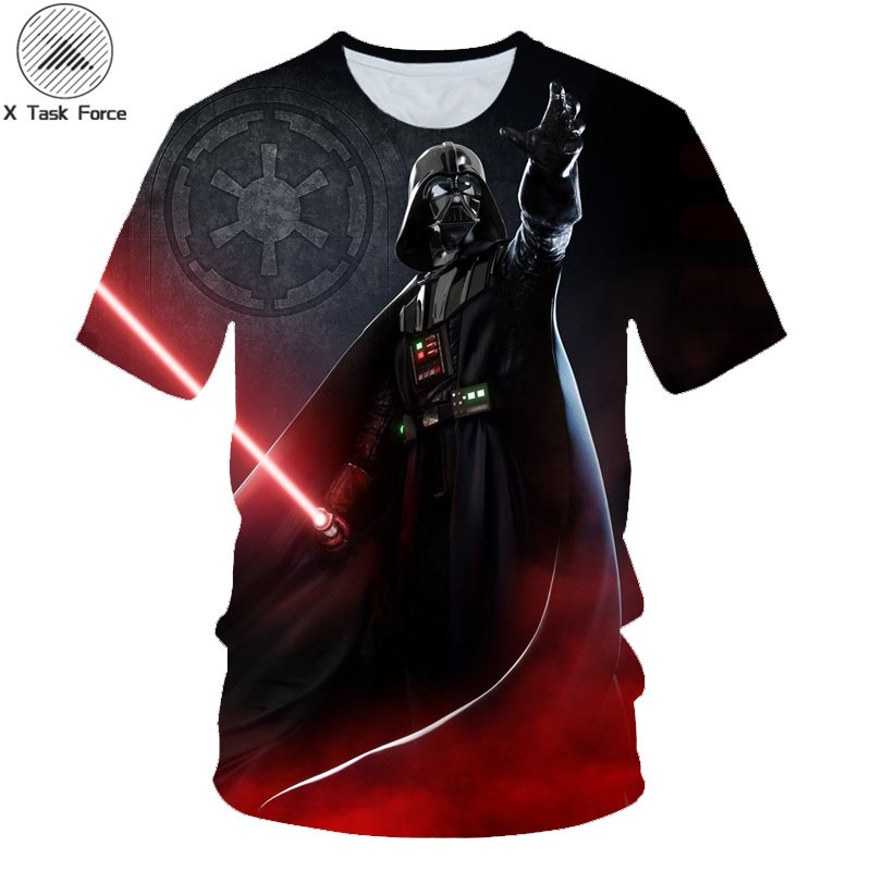 Brand T-shirt Fashion Mens 3d T-shirt Star Wars Darth Vader Printed Summer Men/Women Casual Cool Tee Shirts Dropship Size S-6XL