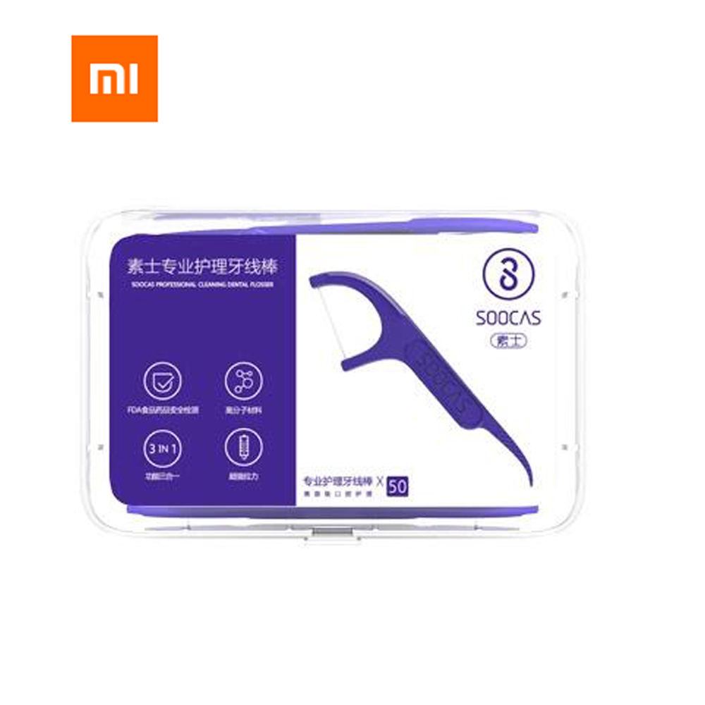 Xiaomi Youpin Soocare Daily Tooth Cleaning Professional Superfine Dental Floss 50pcs/set