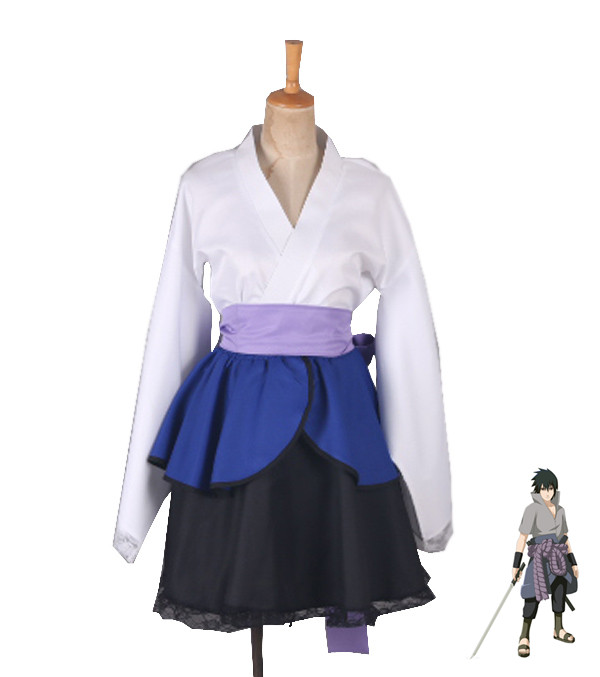 anime Naruto: Shippuden Costumes NARUTO lolita Skirts Lolita kimono dress Uchiha Sasuke Cosplay Halloween ladies party uniform