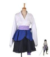 anime Naruto: Shippuden Costumes NARUTO lolita Skirts Lolita kimono dress Uchiha Sasuke Cosplay Halloween ladies party uniform