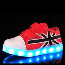4 colors new 2016 children LED shoes canvas flash light LED shoes kids USB charging shoes