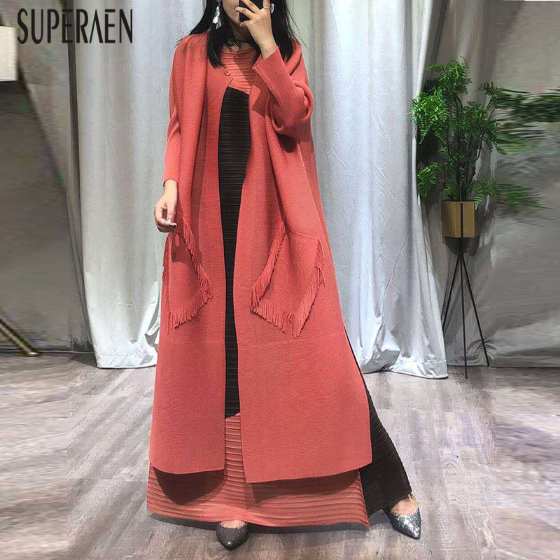 SuperAen 2019 Summer New Loose Korean Style   Trench   Coat for Women Wild Casual Ladies Windbreaker Fashion Women Clothing
