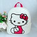 Hot Hello Kitty Schoolbag Cartoon Kids Travel Backpack Quality PU Leather Women Backpack Cute Bookbag Waterproof Backpack
