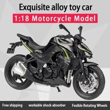 Bem, 1:18 kawwasaki z1000 diecast motocicleta, modelo com absorção de gordura, brinquedo para crianças, presentes, coleção de brinquedos