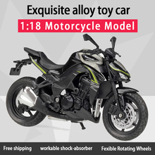 Welly 1:18 Kawwasaki Z1000 Alloy Diecast Motorcycle Model Workable Shork Absorber Toy For Children Gifts Toy Collection