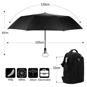 Image 2 - רוח עמיד מלא אוטומטית מטריית גשם נשים לגברים 3 מתקפל מתנה שמשייה קומפקטי גדול נסיעות עסקים רכב 10K מטרייה