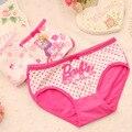 Kids Panties Baby Girls' Briefs Fashion Cartoon Boxer Children Underwear Soft Cotton 2015 new calcinhas infantis 2-12T 3Pcs/lot