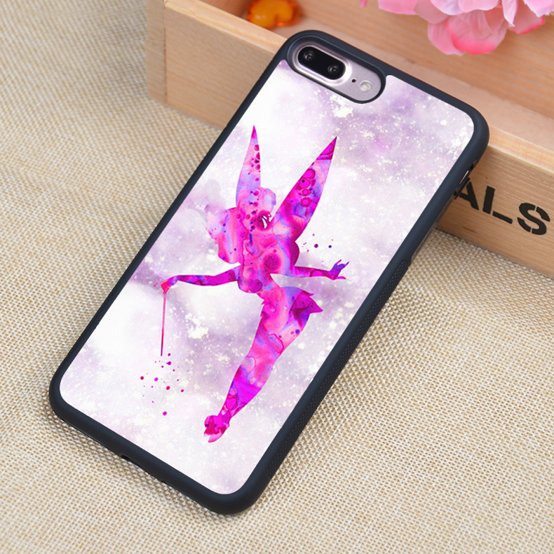 PETER PAN & TINKERBELL PRINCESS Printed Soft Rubber Phone Cases For iPhone 6 6S Plus 7 7 Plus 5 5S 5C SE 4 4S Cover Skin Shell