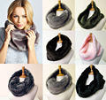 NEW FASHION Super Soft Faux Fur Beige Infinity Single Loop Scarf  cricle scarves Neck Warmer