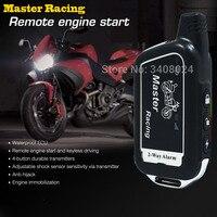 Two 2 Way Motorcycle Alarm System Scooter 2 Way Burglary Alarm Remote Engine Start Moto Motor