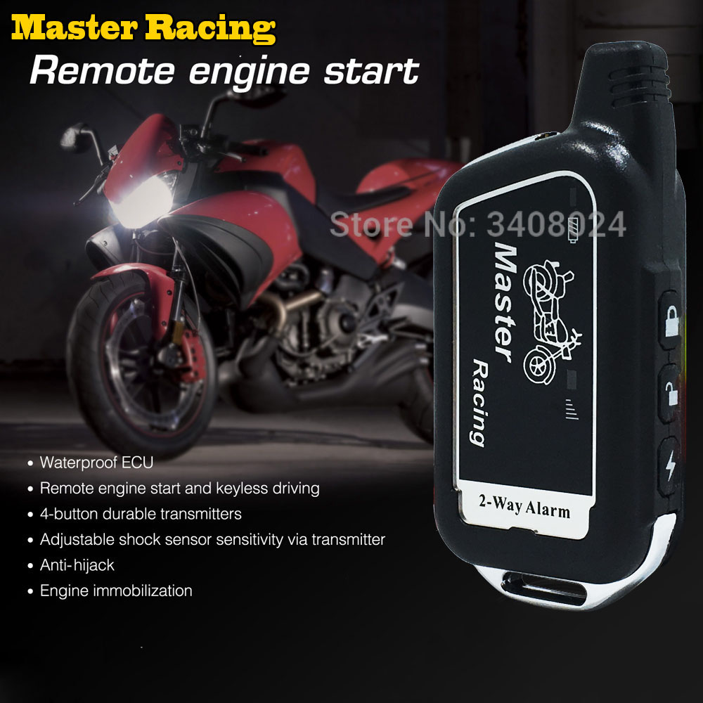 Two 2 Way Motorcycle Alarm System Scooter 2 Way Burglary Alarm Remote Engine Start Moto Motor Security Alarm Theft Protection maiyaca two tigers speed keyboard mouse pad rubber mat computer gaming mousepad gamer for large size table mouse mat