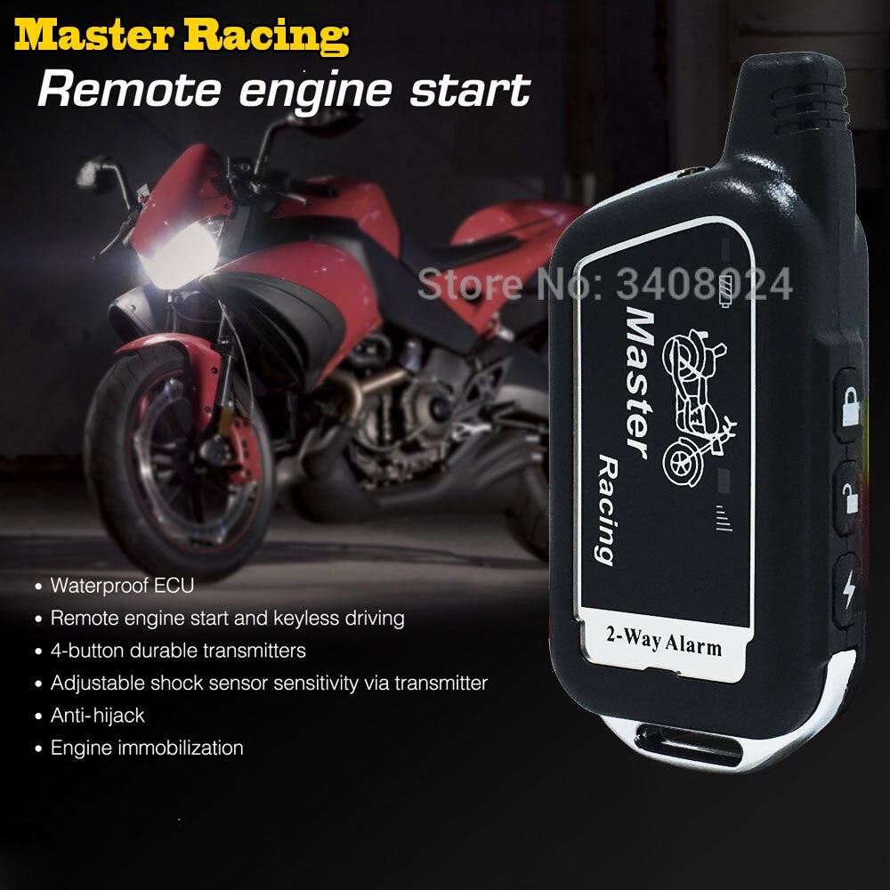 Zwei 2 Möglichkeit Motorrad-alarm-system Roller 2 Way Einbruch Alarm Fernmaschinenanfang Moto Motor Sicherheit Alarm Diebstahl Schutz