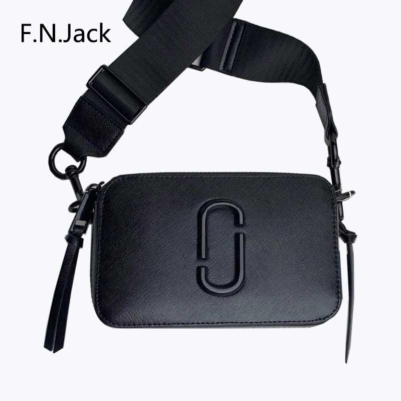 F.N.JACK Ms. Handbags Fashion Latest Ladies Leather Bag Zipper Bag Flat Pocket Shoulder Bag Messenger Bag Handbags