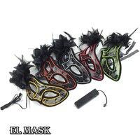 Toptan 10 adet Düğün Parti Malzemeleri 10 Renk Seçin el tel kore maske Ses Aktif led sevgililer günü Için maske dekor