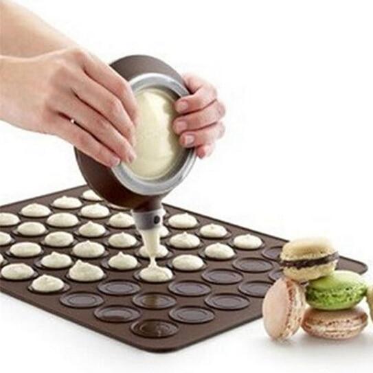 عملي 30-تجويف سيليكون المعجنات كعكة معكرون الشكل العفن فرن الخبز المعجنات العفن ورقة حصيرة