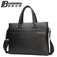 Bostanten Brand New Men's Genuine Cowhide Leather Fashion Handbag Messenger Shoulder BAGS Briefcase Laptop Business BAG Purse