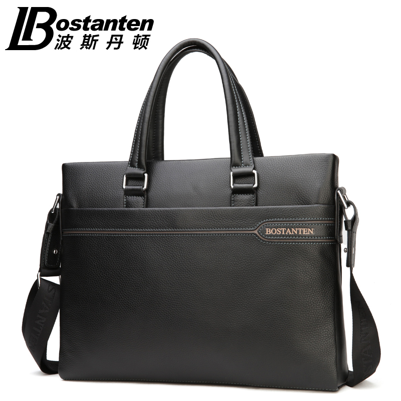 Bostanten Brand New Men s Genuine Cowhide font b Leather b font Fashion font b Handbag